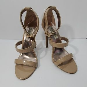 Steve Madden nude strappy high heel sandals size 7